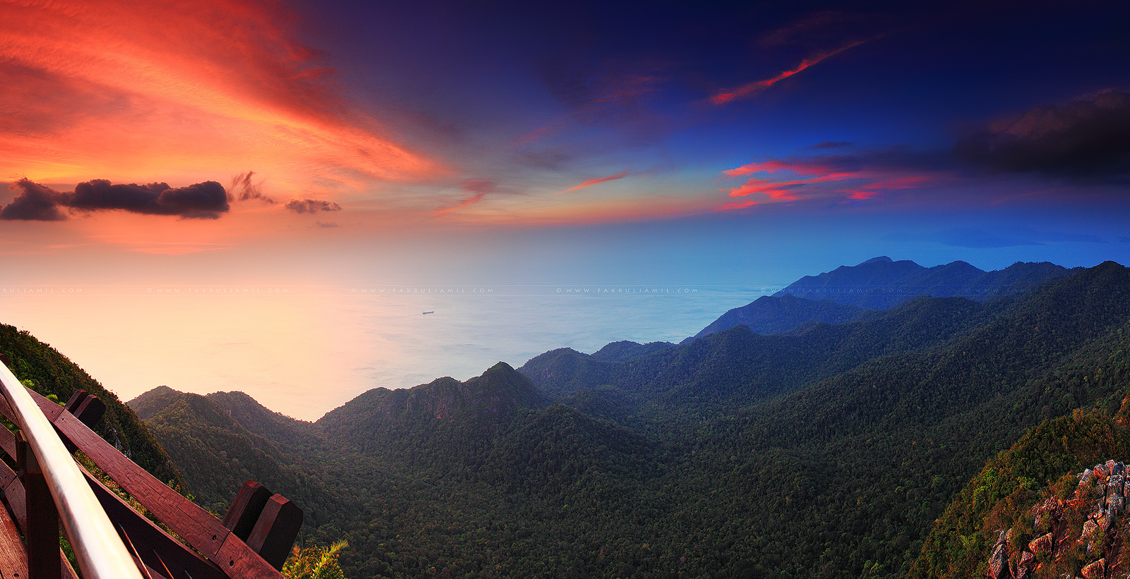 2,339 ft above sea level, Panorama Langkawi Cable Car at Sunset