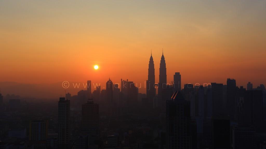 Kuala Lumpur City on Silhouette