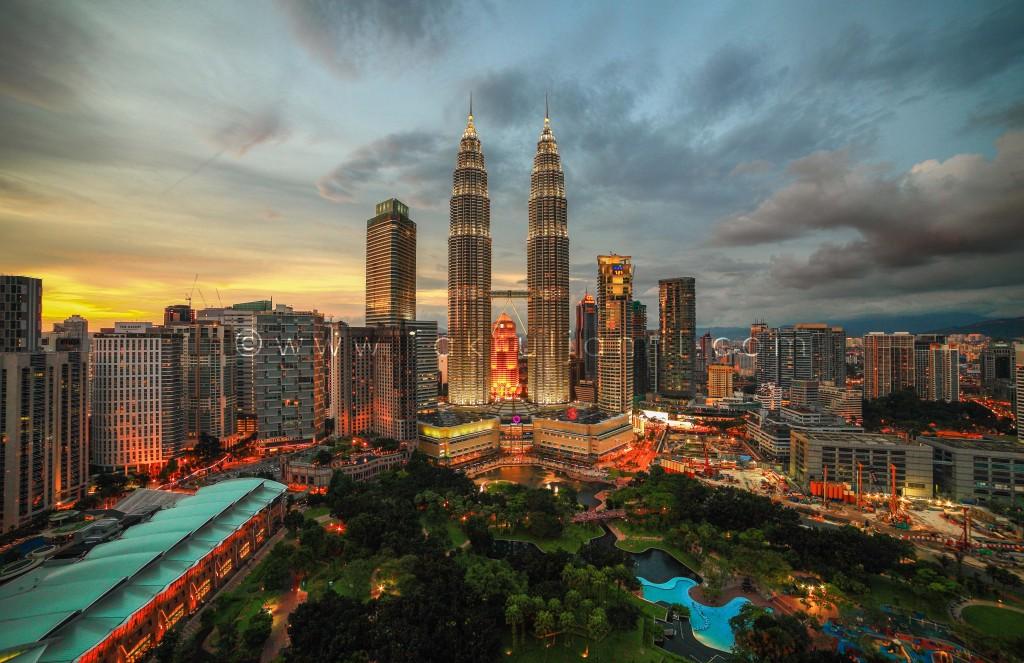 Petronas Twin Towers Sunset 3