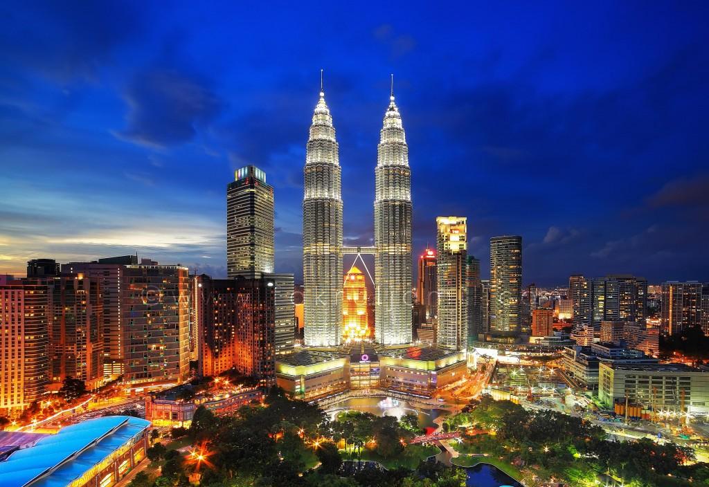 Petronas Twin Towers Blue Hour