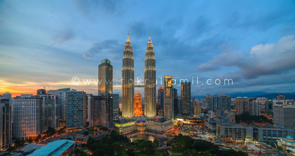 Petronas Twin Towers Sunset 4
