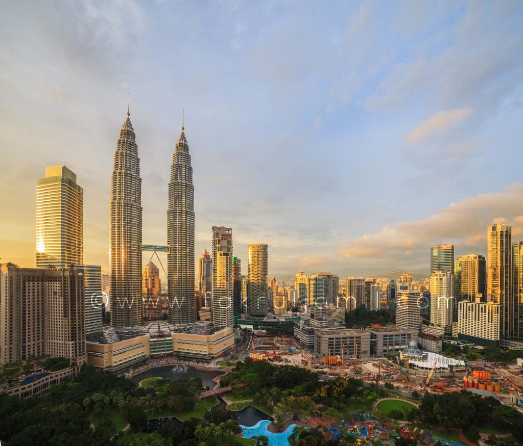 Petronas Twin Towers Sunset 1