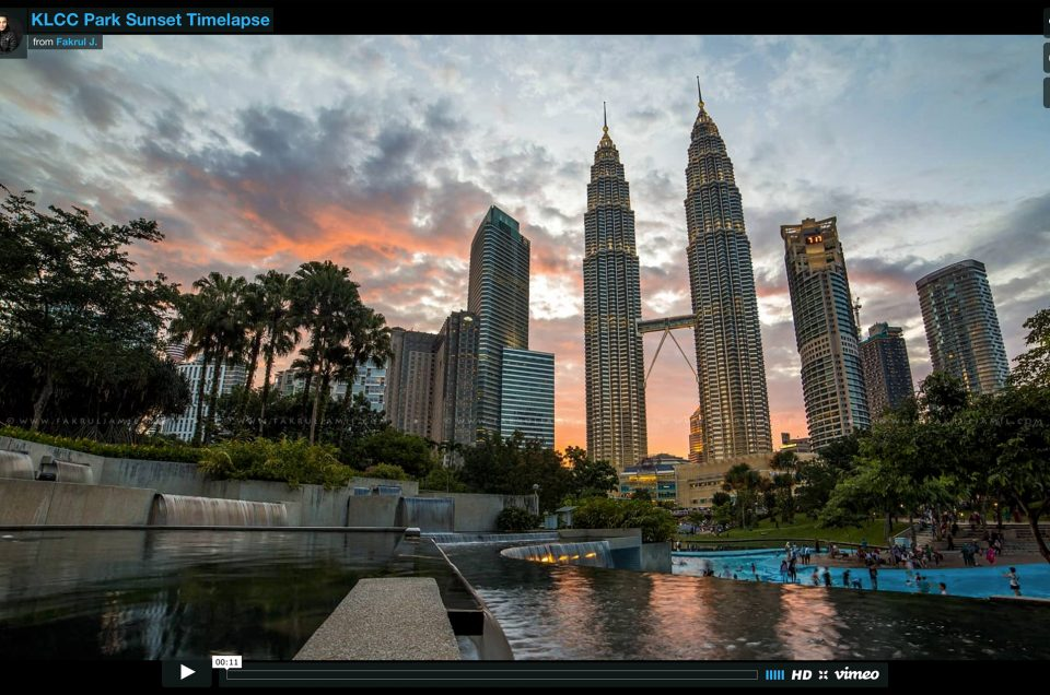 Video: Timelapse – KLCC Park Sunset
