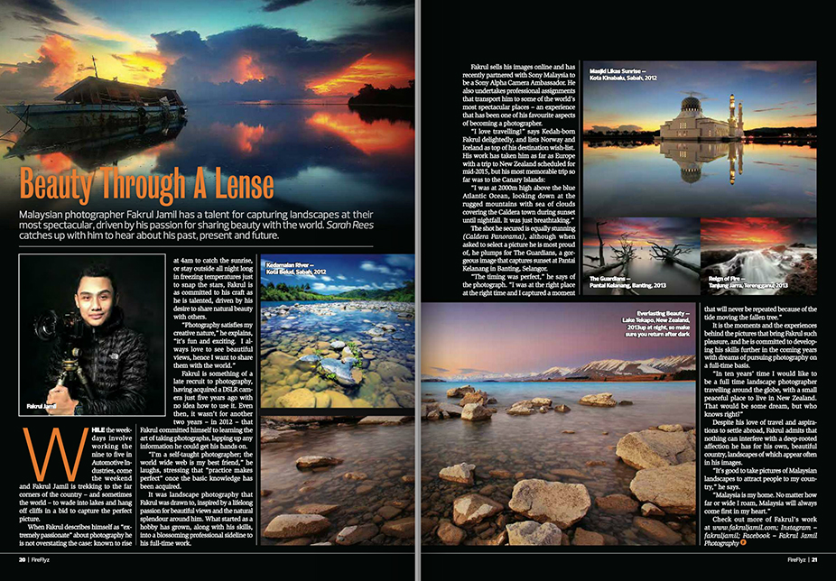 Beauty Through A Lense – Firefly In Flight Magazine Interview