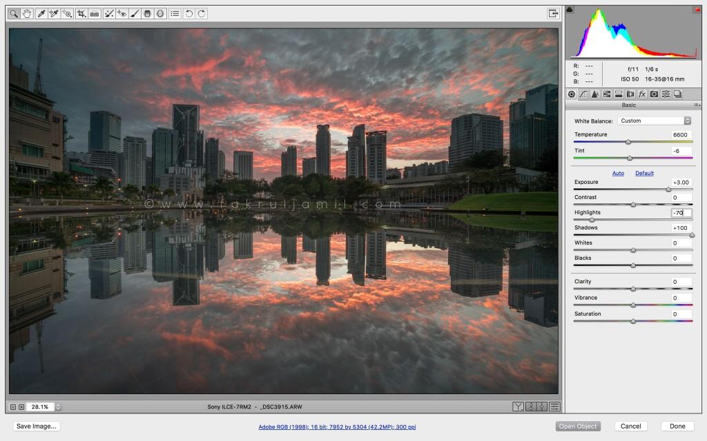 3-stops-exposure-incremenet-Symphone-Lake-Sunrise