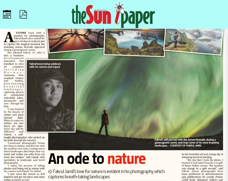 """An ode to nature."" – Interviewed by The Sun Daily"